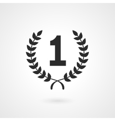Black winner icon or number 1 sign vector