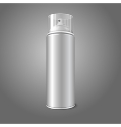 Blank aerosol spray metal 3D bottle can with vector image