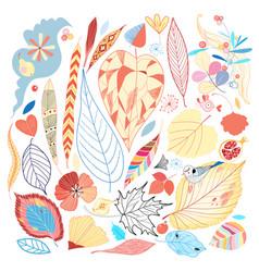 bright autumn set vector image