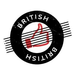 British rubber stamp vector
