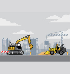 Building construction site vector