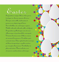 Card with the text for Easter vector