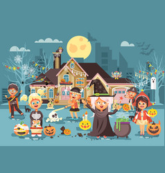 cartoon characters children vector image