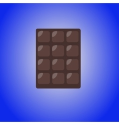 Chocolate bar icon modern minimal flat design vector