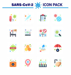 Coronavirus prevention 25 icon set blue pandemic vector