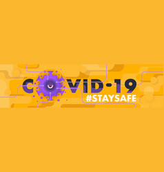 covid19-19 one eye coronavirus character vector image