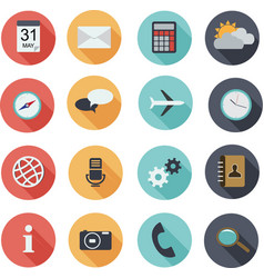 Design flat icons for web and mobile vector