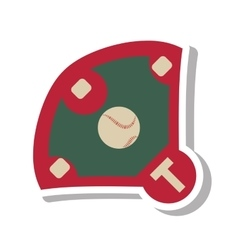 Diamond camp baseball icon vector