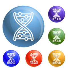 dna formula icons set vector image