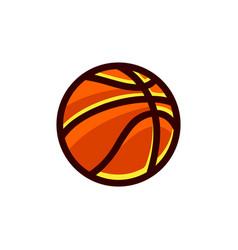 doodle a basket ball vector image