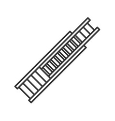 Double extension ladder linear icon vector