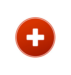 first aid medical sign in circle flat icon for vector image