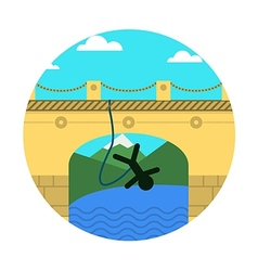 Flat icon for extreme sport Rope jumping vector image
