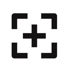 focus icon vector image