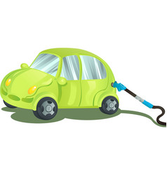 fueling a car with gasoline vector image
