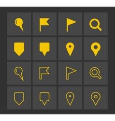 GPS and Navigation icons vector