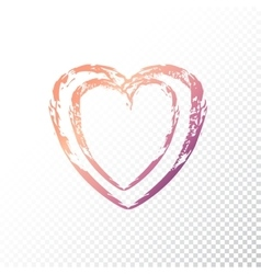 Gradient heart vector