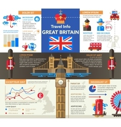 Great Britain Travel Info - poster brochure cover vector