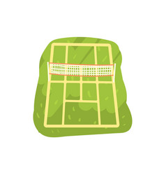Green tennis court cartoon vector