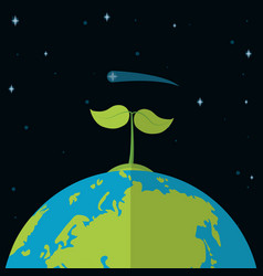 green world in space vector image