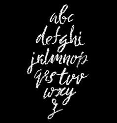 Handwritten chalked alphabet imitation vector