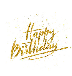 happy birthday beautiful greeting card vector image
