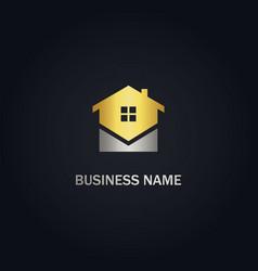 Home realty company gold logo vector