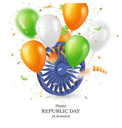 indian republic day holiday background vector image