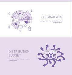 Job analysis and budget distribution concept vector