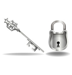 Key and lock vector image