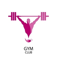 logo gym club vector image