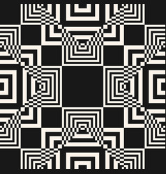 modern black and white geometric seamless pattern vector image
