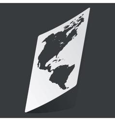 Monochrome America sticker vector image