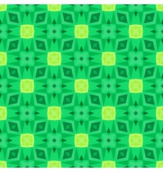 Multicolor geometric pattern in bright green vector