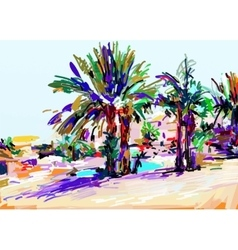 original digital painting of Cyprus colorful vector image