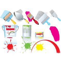 Paint and tools vector