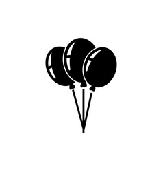 party helium balloons icon vector image