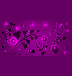 pattern from black lilac vegetative elements on a vector image