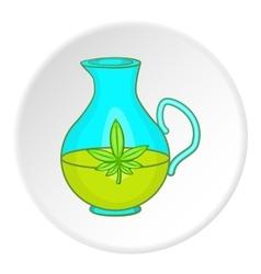 Pitcher of marijuana icon cartoon style vector