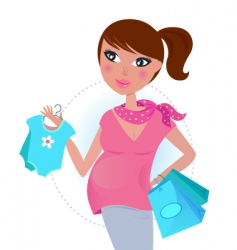 pregnant mom shopping vector image