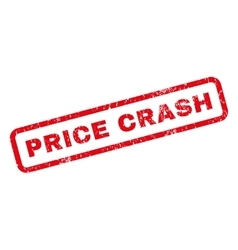 Price Crash Rubber Stamp vector