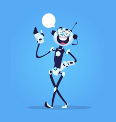robot virtual assistance chat bot vector image