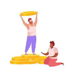 Salary discrimination flat composition vector