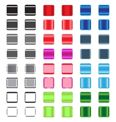 set glossy plastic buttons vector image