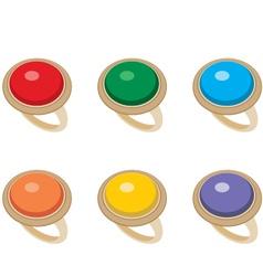 Set of female jeweler rings vector image
