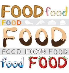 Set of food artwork vector