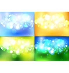 set summer shining magical background vector image