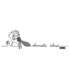 stop domestic abuse poster banner vector image