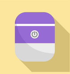 System smart speaker icon flat style vector