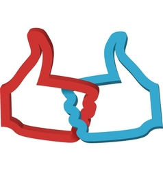 Thumbs up double like icon likes vector